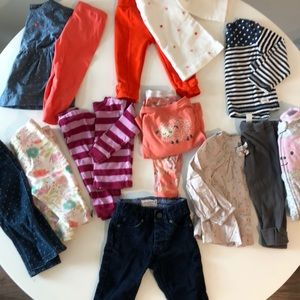 Baby girls size 6-12 month collection